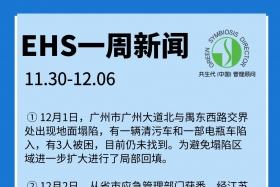 EHS一周新闻(11.30-12.06)